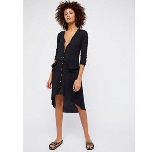 Free People Beach Ribbed Up Maxi Cardigan